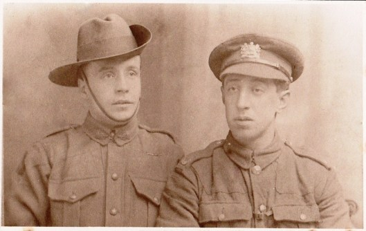 Albert and Sam during WW1.