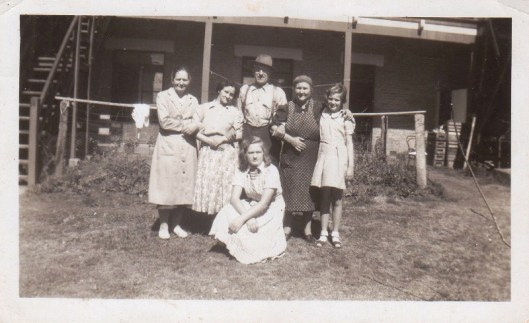 Alice and family, with Florence, standing, second from left, in Australia.