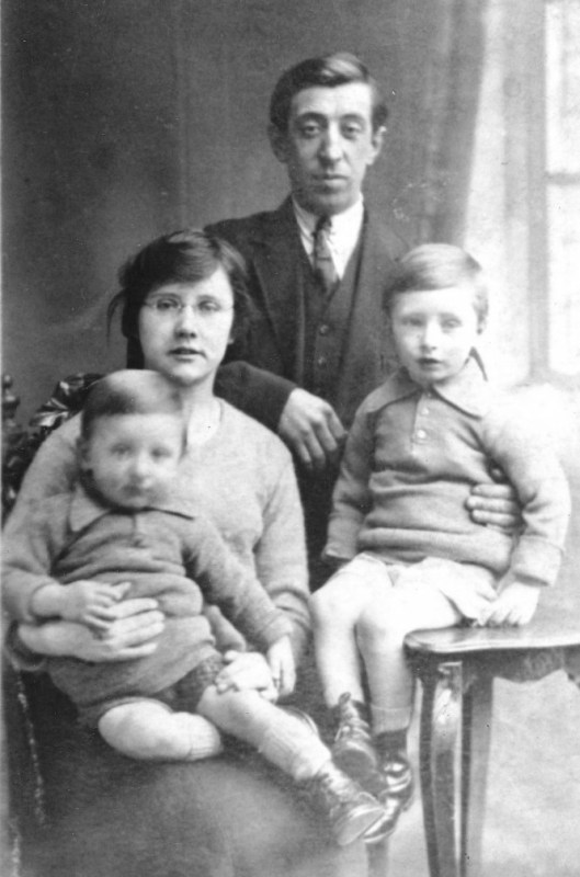 A young family in the 1920's ~ Florence, Sam, William and my dad, young Sam.