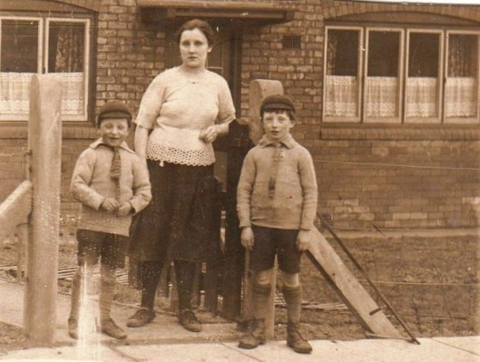 A young Florence, with her two sons, William and Sam.