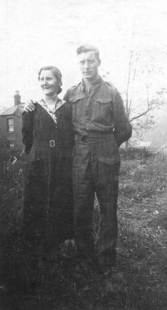 "My father, Sam, with his mother, Florence, who he always called ""Florry""."